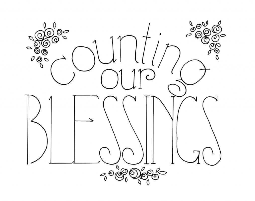 counting our blessings hand-lettering