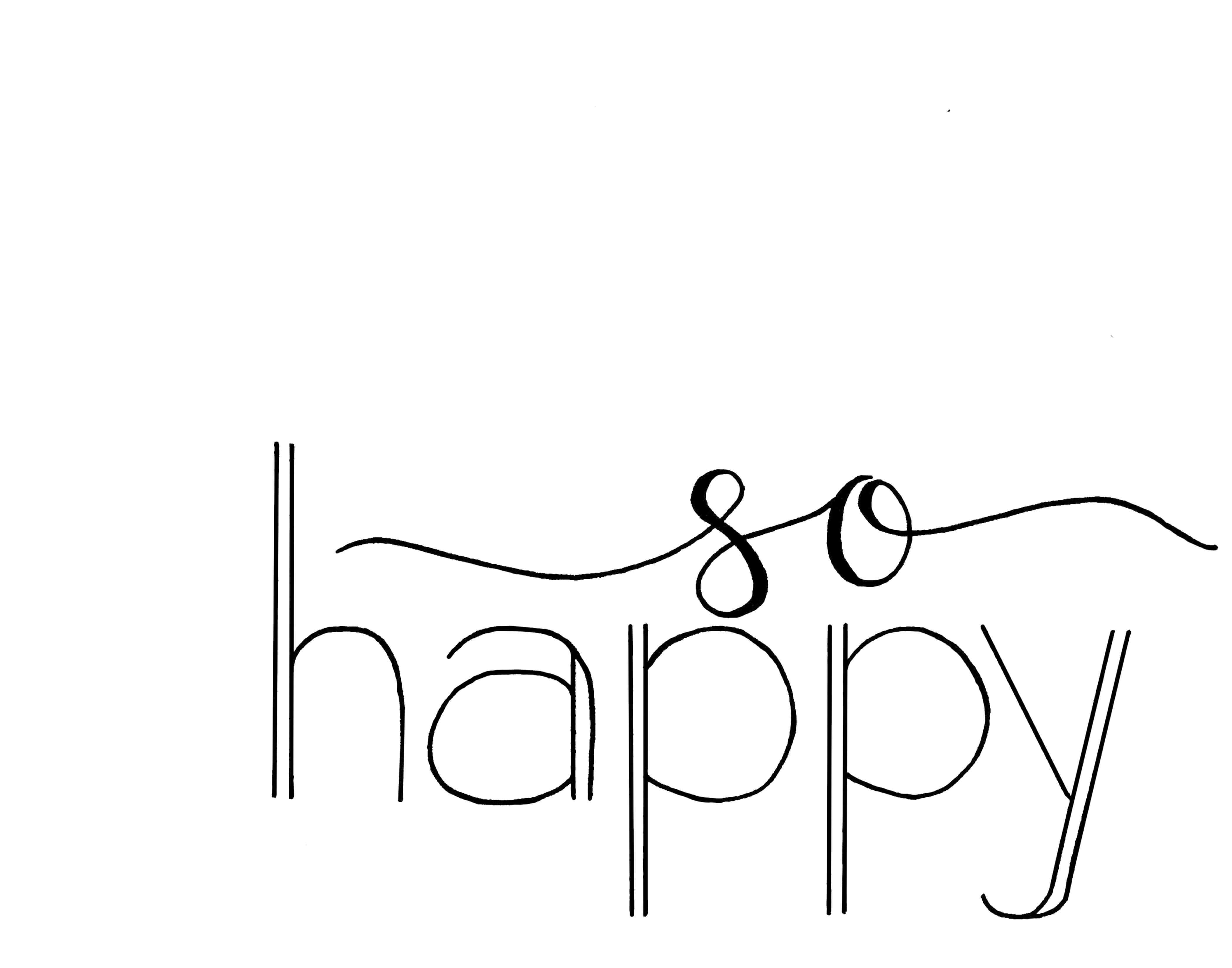 so happy handlettered print
